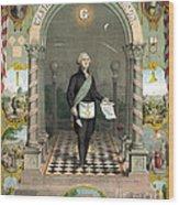 George Washington Freemason Wood Print