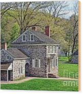 George Washington Headquarters At Valley Forge Wood Print by Olivier Le Queinec