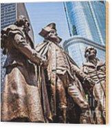 George Washington-robert Morris-hyam Salomon Memorial Statue Wood Print