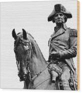 George Washington Statue Boston Ma Wood Print