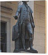 George Washington Statue Wood Print