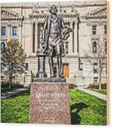 George Washington Statue Indianapolis Indiana Statehouse Wood Print
