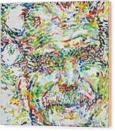 Georges Brassens Portrait Wood Print