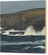 Georges Head Kilkee Wood Print by Peter Skelton