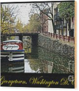 Georgetown Canal Poster Wood Print