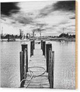 Georgetown Dock Wood Print