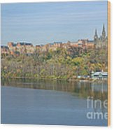 Georgetown University Neighborhood Wood Print by Olivier Le Queinec