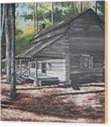 Georgia Cabin In The Woods Wood Print