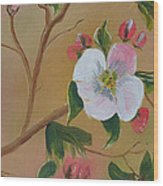 Georgia Flowers - Apple Blossoms- Stretched Wood Print