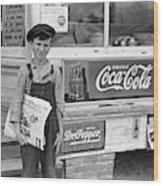 Georgia Newsboy, 1938 Wood Print