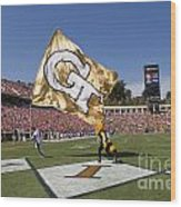 Georgia Tech Touchdown Celebration At Uva Wood Print