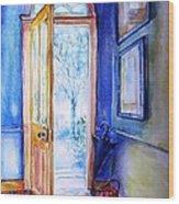 Winter Doorway Ireland    Wood Print