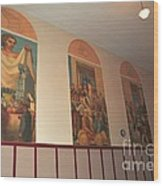 Gerald Mast Murals In Clare Michigan Wood Print