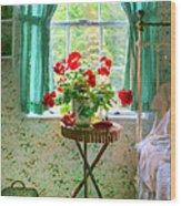 Geraniums In The Bedroom Wood Print