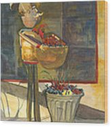 Gere-a-delis Brass Chef Wood Print