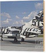 German Air Force Tornado Aircraft Wood Print