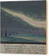 German Comet Illustration Wood Print