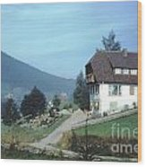 German Country Home Wood Print