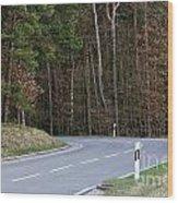German Country Road Wood Print