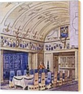 German Dining Hall, Early 20th Century Wood Print