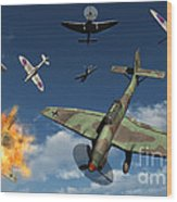 German Ju 87 Stuka Dive Bombers Wood Print