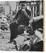 German Officer Pow Eating A Can Of U.s Wood Print
