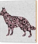 German Shepherd - Animal Art Wood Print