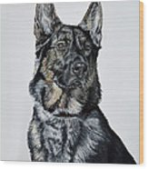 German Shepherd Bodhi Wood Print