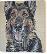 German Shepherd Jim Wood Print