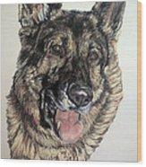 German Shepherd Rudi Wood Print
