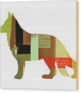 German Sheppard 2 Wood Print by Naxart Studio