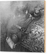 German Soldiers Launch A Suprise Attack On Bunker 17. Wood Print