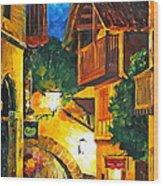 German Town Wood Print