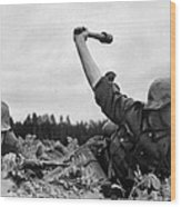 German Troops During The Invasion Wood Print