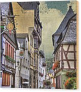 German Village Wood Print