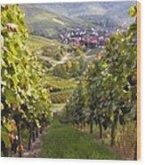 German Vineyard Wood Print
