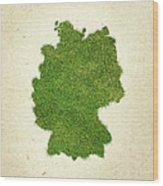 Germany Grass Map Wood Print