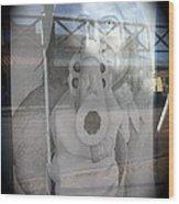 Geronimo Aiming Rifle Poster Window Tombstone Arizona 2005 Wood Print