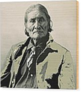 Geronimo As Photographed By A. Rinehart Omaha Nebrasks  1898-2013.  Wood Print