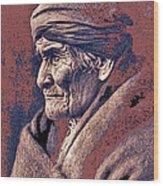 Geronimo  Photographed By Edward S. Curtis  1903-2013 Wood Print