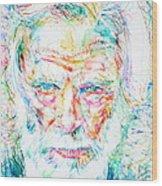 Gerry Mulligan - Portrait Wood Print