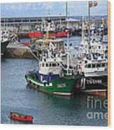 Getaria Fishing Fleet Wood Print