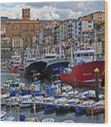 Getaria In Basque Country Spain Wood Print