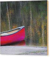Getaway Canoe Wood Print