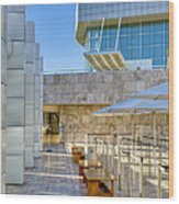 Getty Center Tram Waiting Area Brentwood  Ca Wood Print