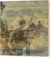 Gettysburg Anniversary 150 Years Wood Print