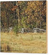 Gettysburg Battlefield October Wood Print