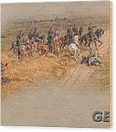 Gettysburg Cyclorama Detail Pickett's Charge  Wood Print