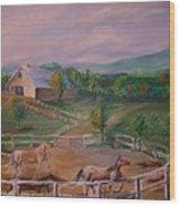 Gettysburg Farm Wood Print