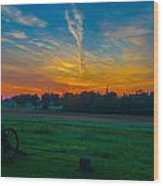 Gettysburg Sunrise Wood Print